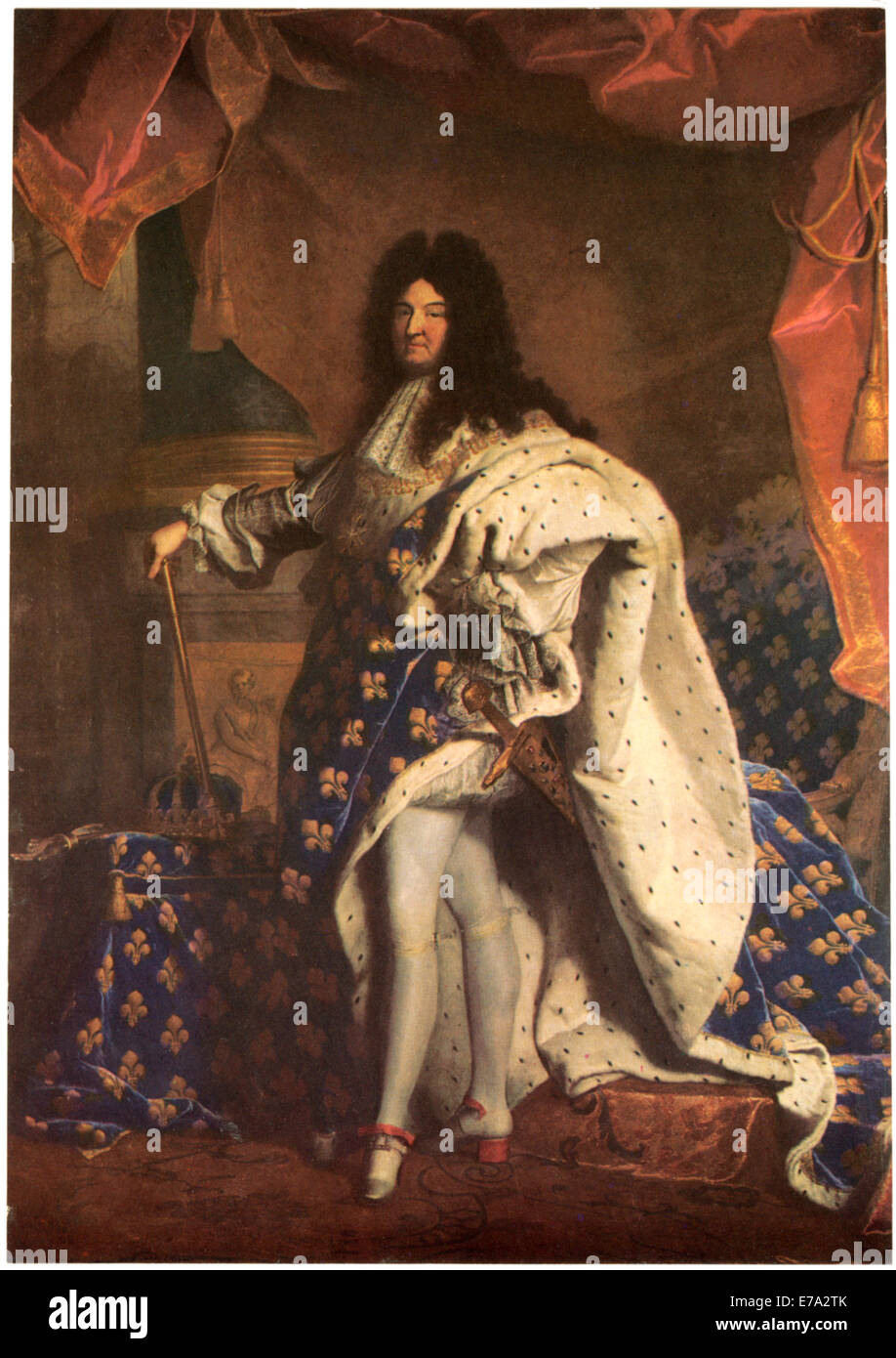 Louis XIV (1638-1715), King of France and Navarre, Painting by Hyacinth Rigaud, 1701 Stock Photo