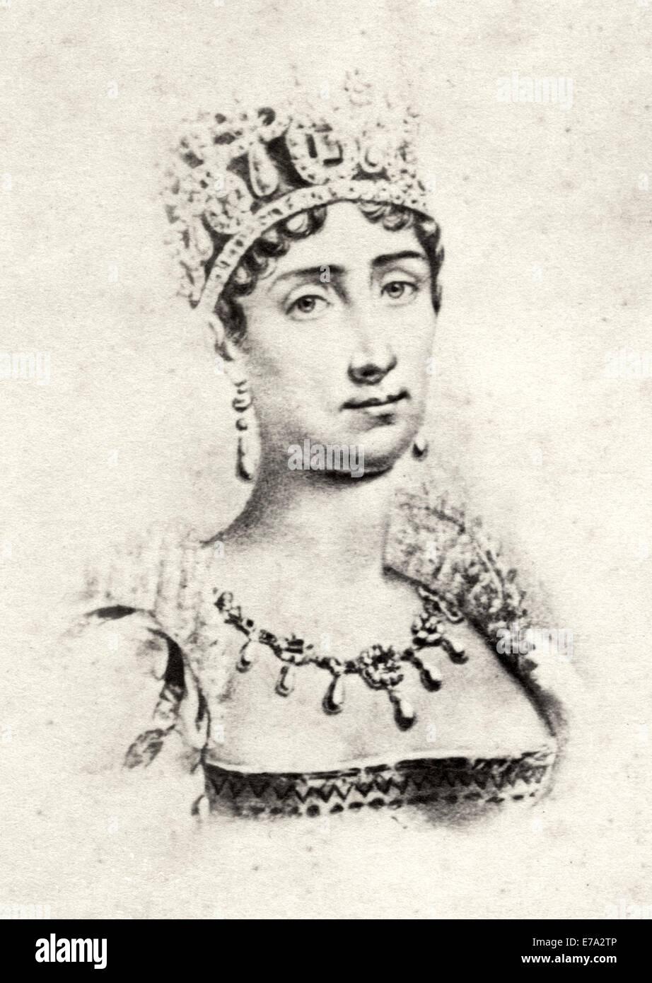 Empress Josephine, first wife of Napoleon I, Portrait - Stock Image