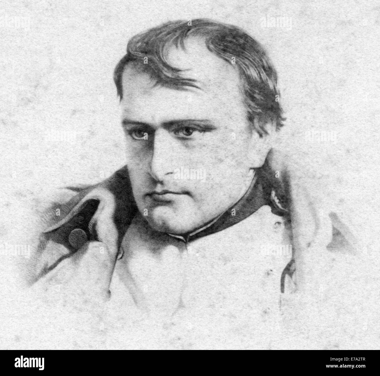 Napoleon I, Portrait, Small Cabinet Card - Stock Image