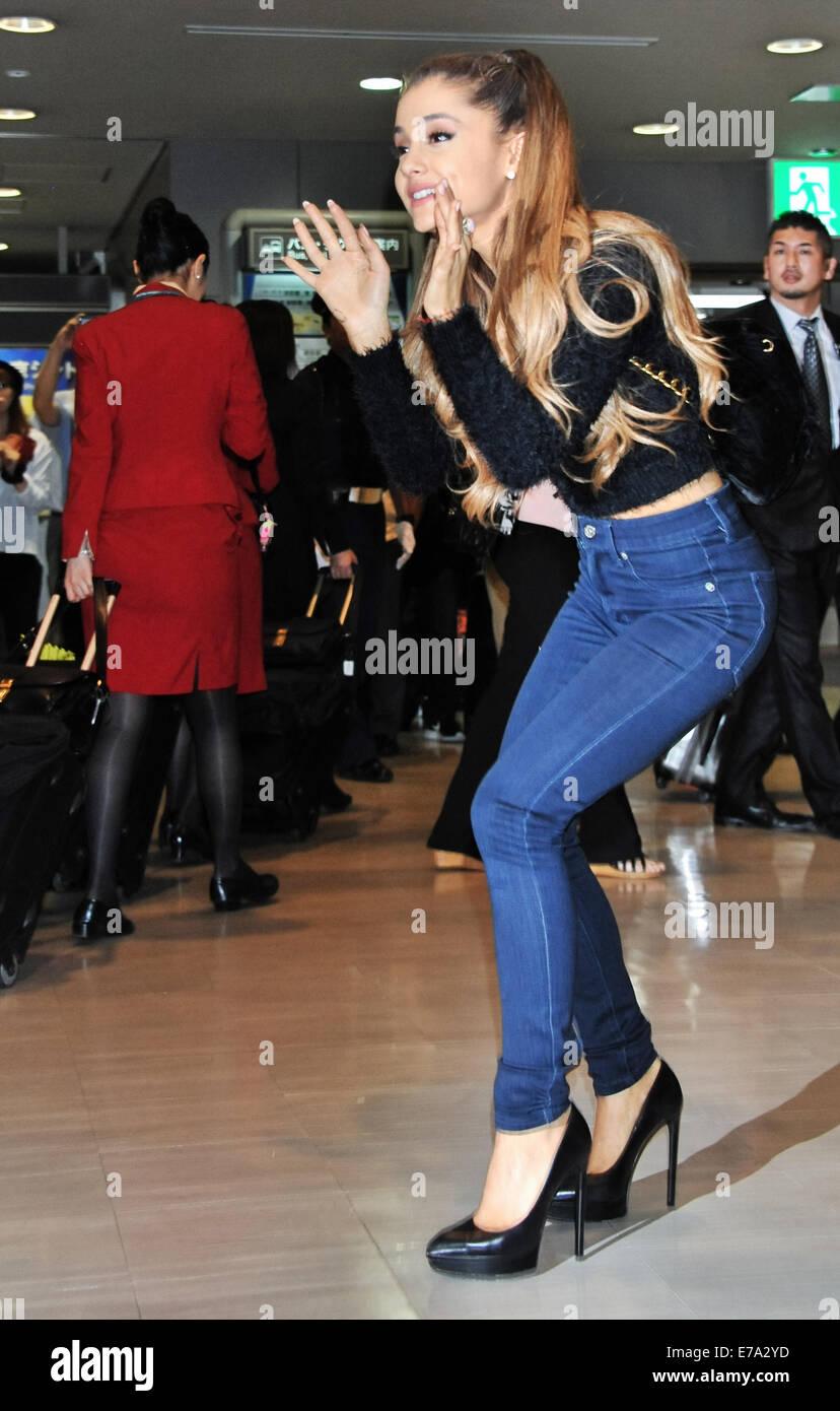 Tokyo Japan 11th September 2014 Singer Ariana Grande Arrives At