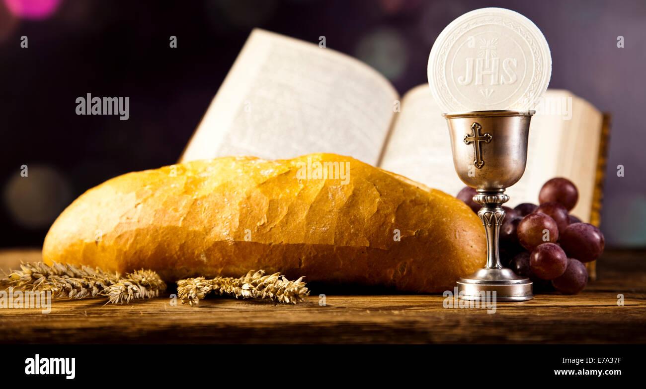 holy communion bread wine stock photo 73366147 alamy