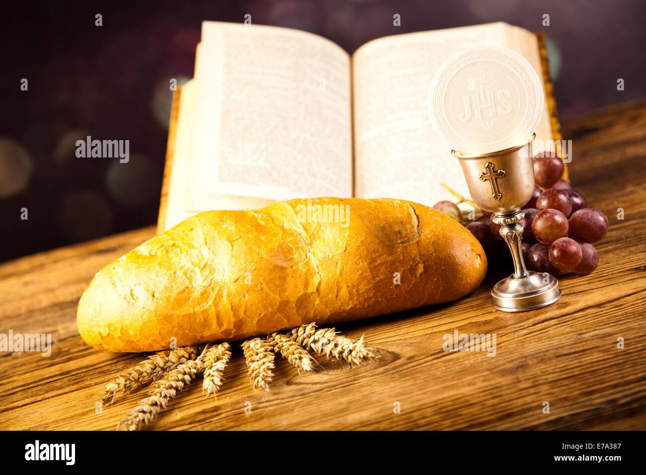 holy communion bread wine stock photo 73366167 alamy