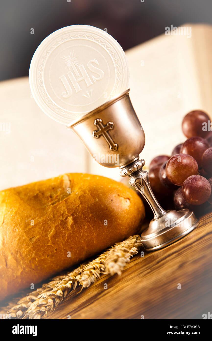 holy communion bread wine stock photo 73366395 alamy