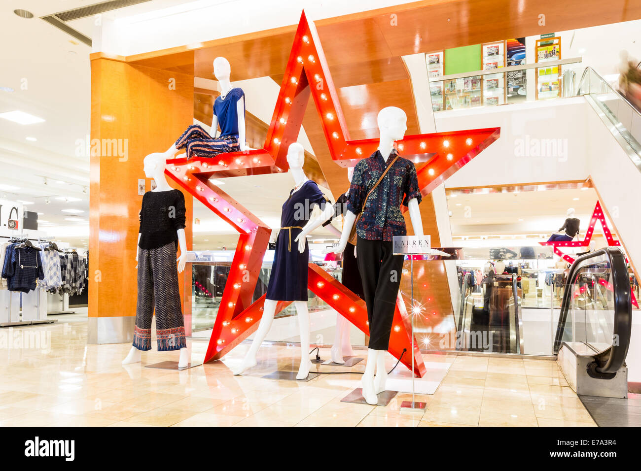 Macy's store inside The Mall at Short Hills - Stock Image