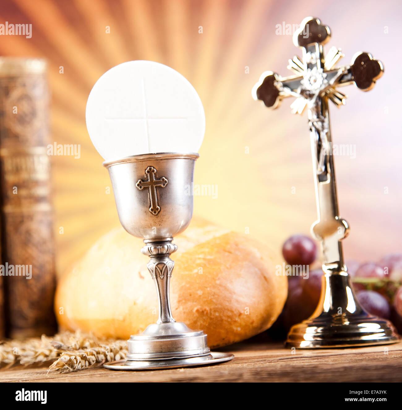 holy communion bread wine stock photo 73366711 alamy