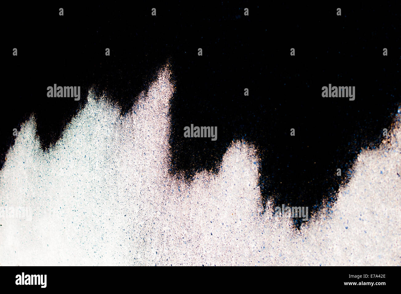 Abstract background of tan lines on black background - Stock Image