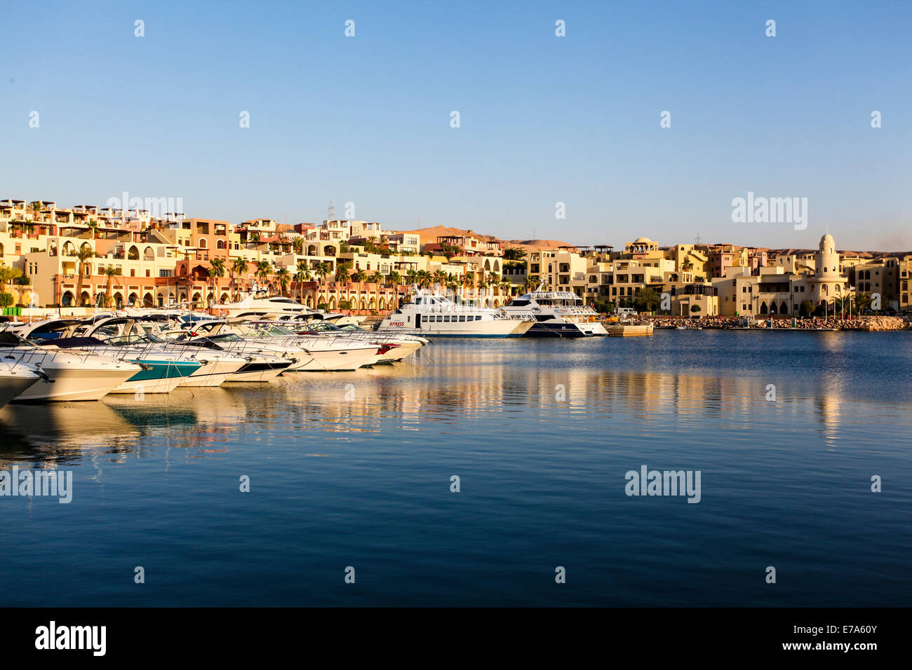 Tala Bay, Aqaba, Jordan yacht club and marina - Stock Image