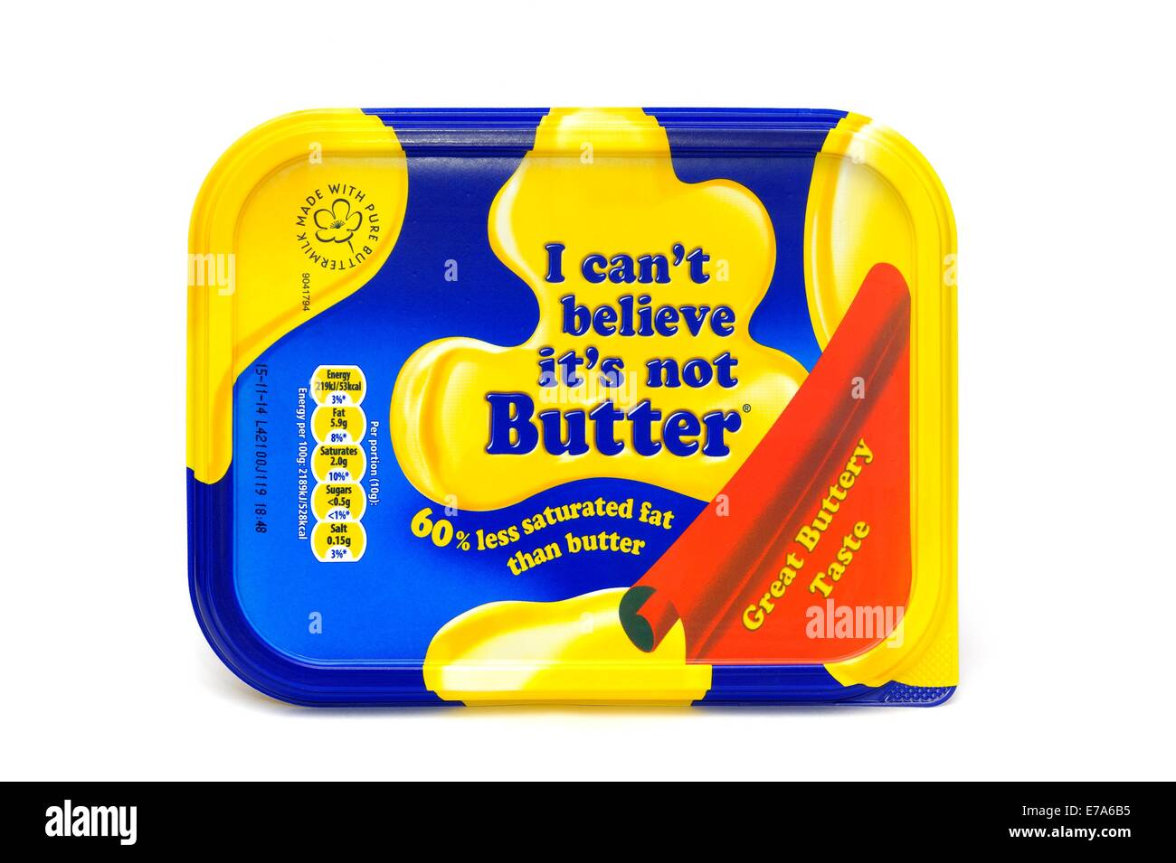 I can't believe its not butter - Stock Image