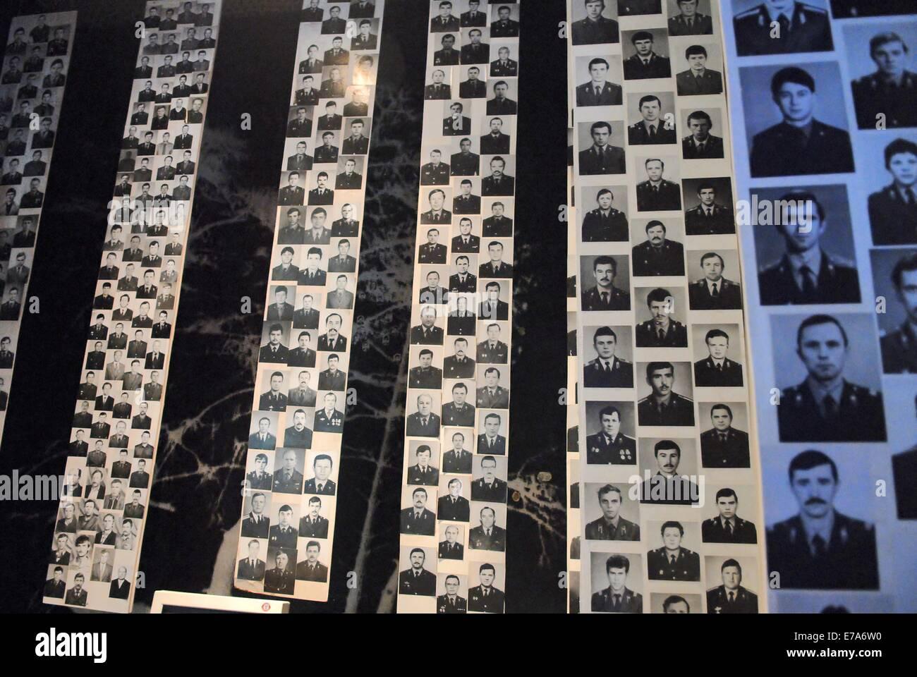 Kiev (Ukraine), museum of the Chernobyl nuclear disaster - Stock Image