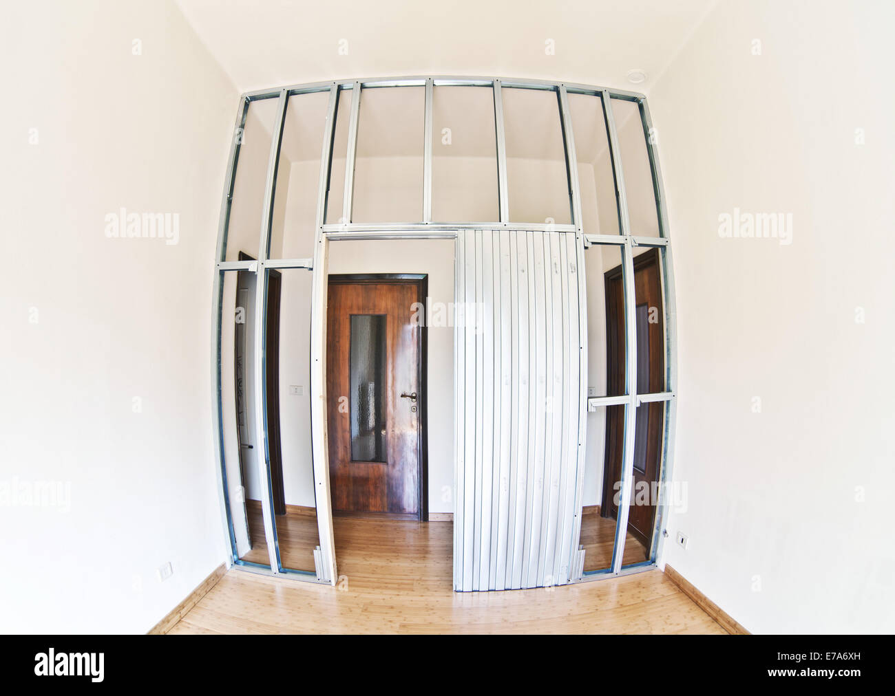 metal structure for drywall detail - Stock Image