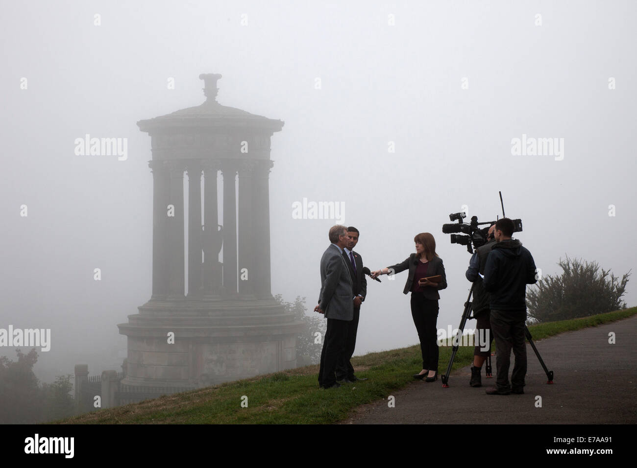 Edinburgh, Scotland, UK. 11th Sept. 2014. Scottish Independence Referendum weather, the big guns from Westminster - Stock Image