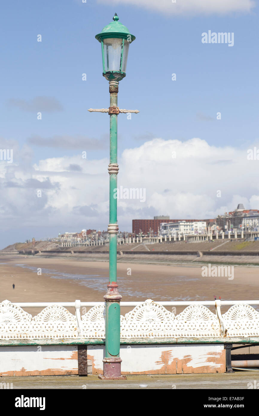 Beach and promenade 'the golden Mile' Blackpool - Stock Image