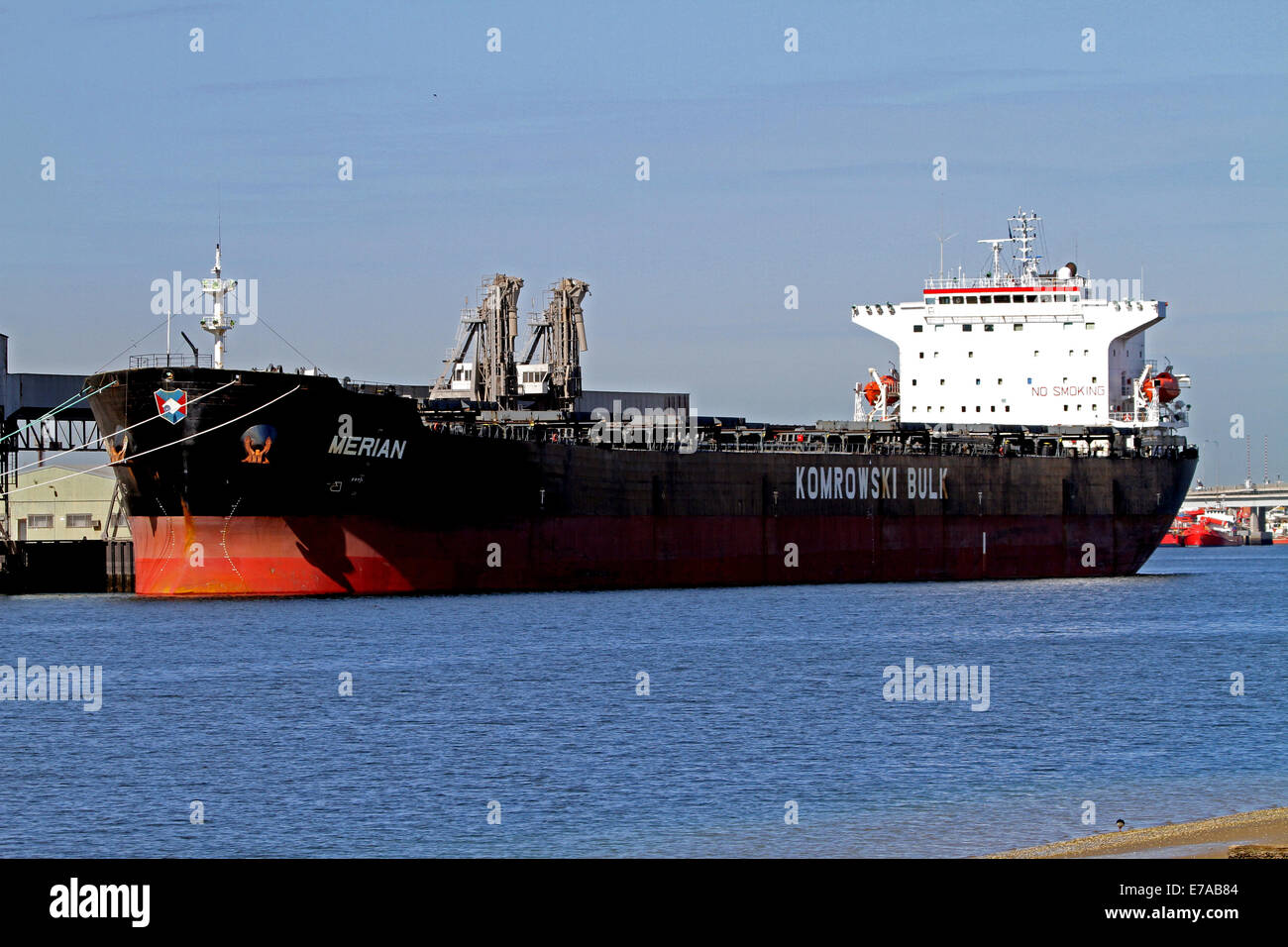 The bulk carrier Merian moored in Adelaide Australia - Stock Image
