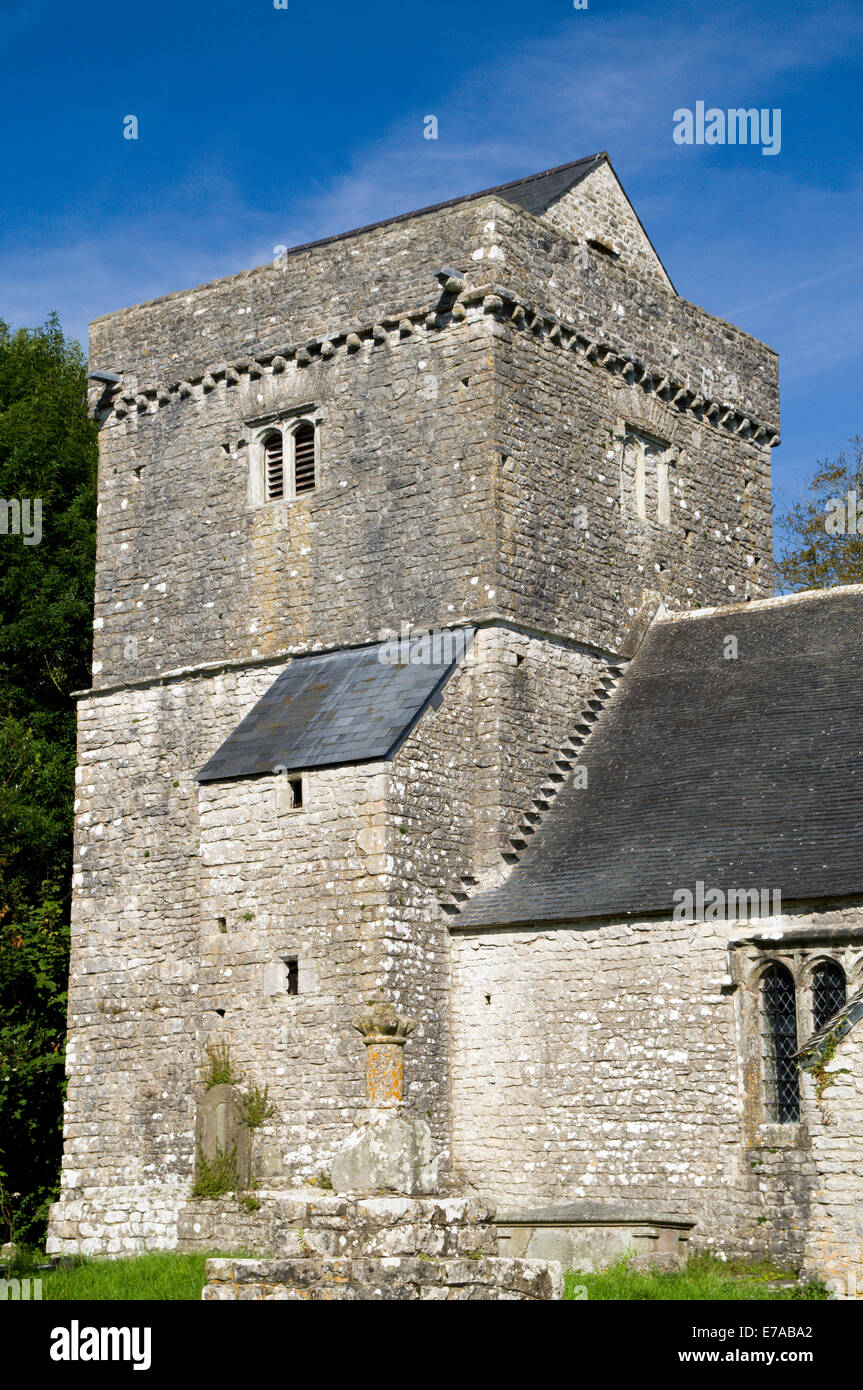 Llanfrynach Church, Cowbridge, Vale of Glamorgan, South Wales, UK. Stock Photo