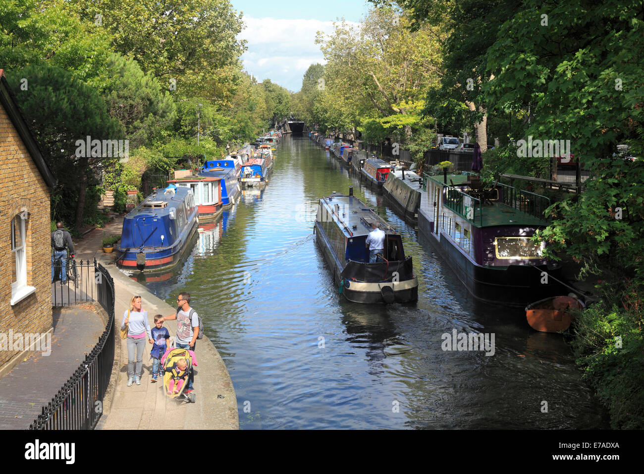 "Regents Canal at ""Little Venice"" in London Stock Photo"