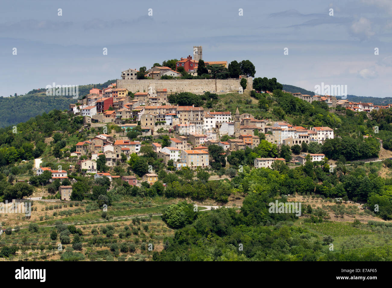 Medieval Croatian town of Motovun Stock Photo
