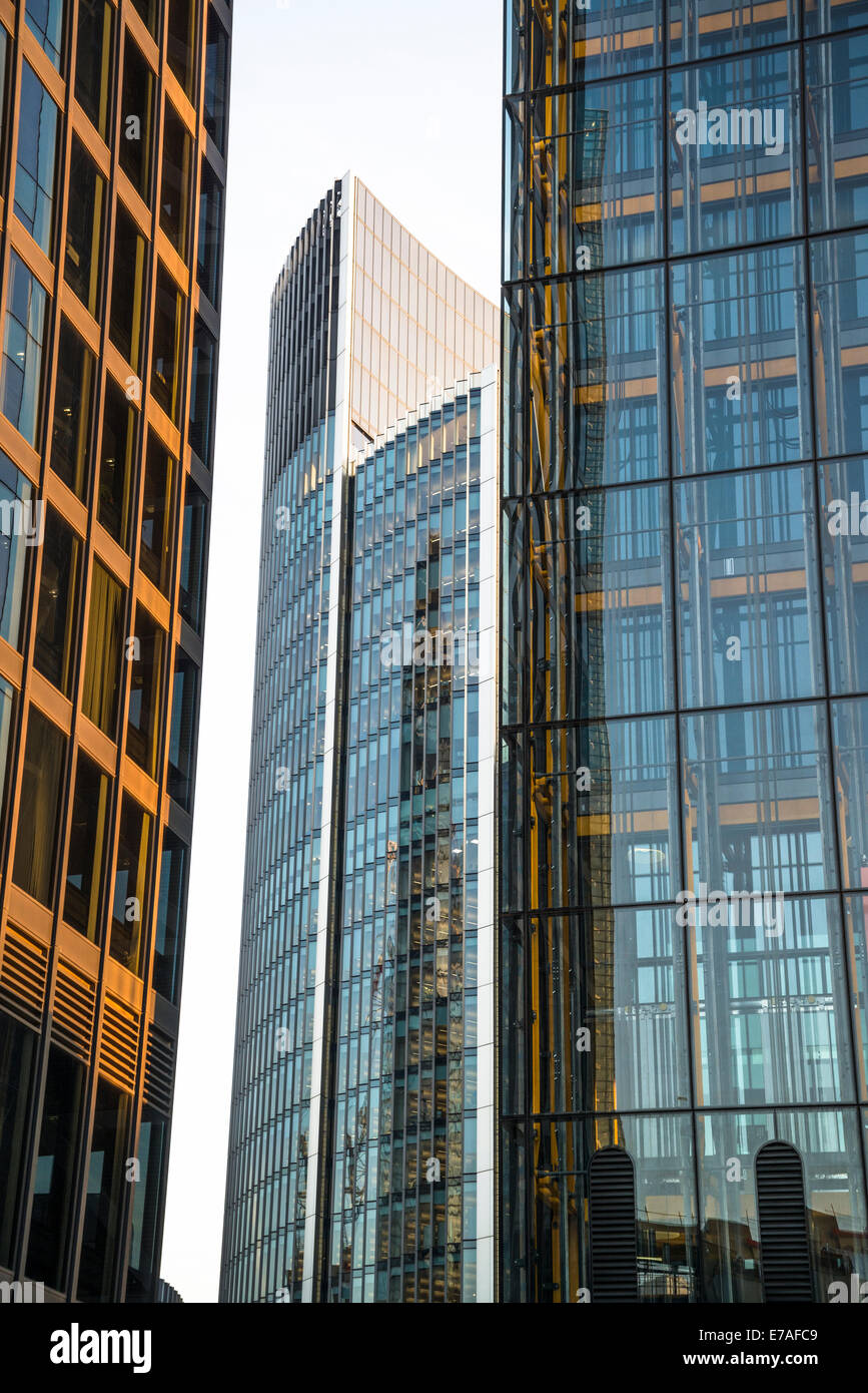 Corporate buildings, Square Mile, City of London, UK - Stock Image