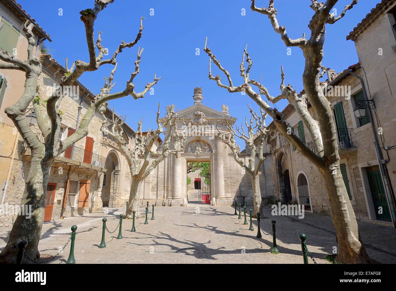 Gate of the Carthusian monastery Chartreuse du Val de Benediction, Villeneuve-lès-Avignon, Gard, Languedoc - Stock Image