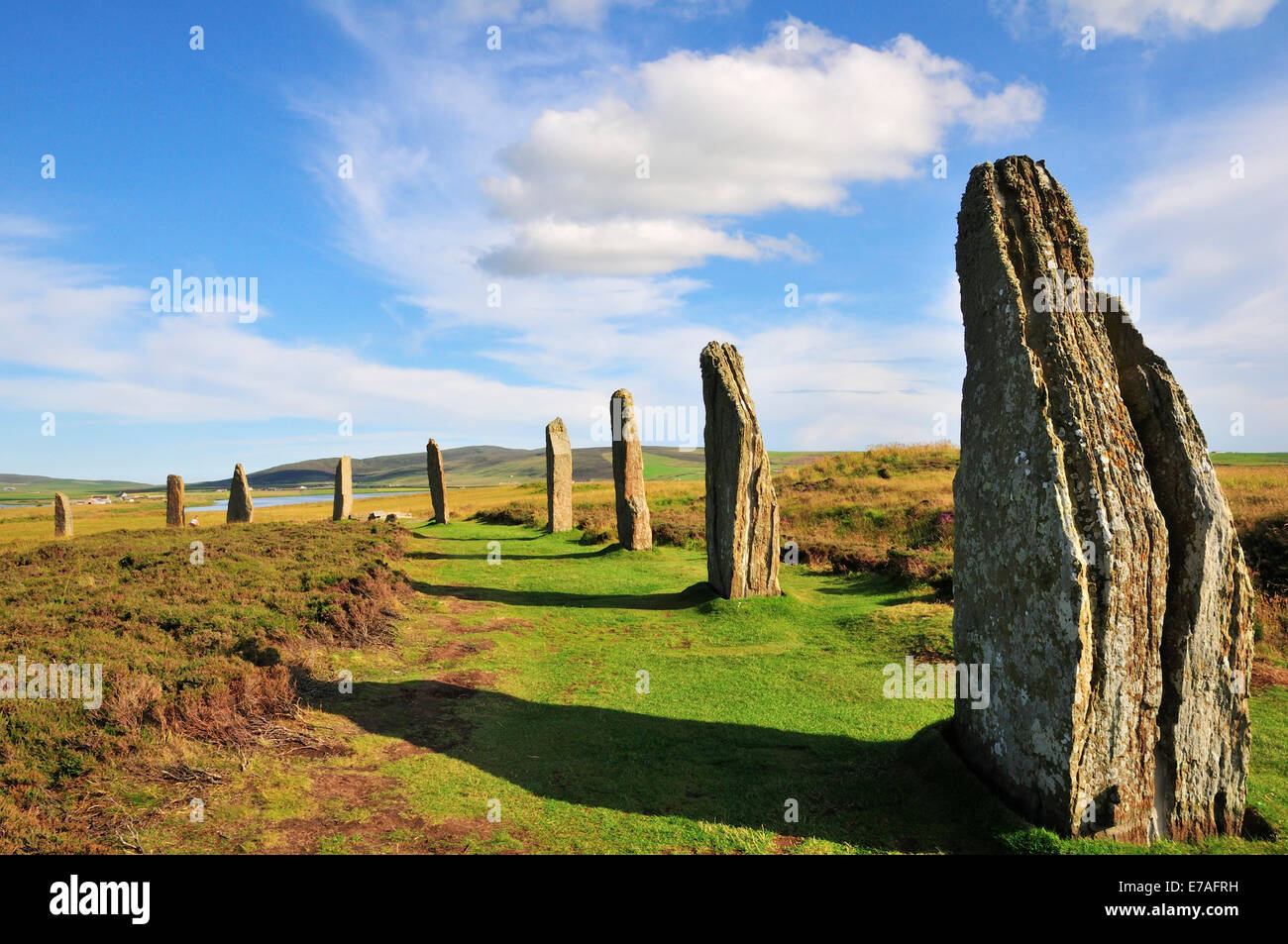 Ring of Brodgar, neolithic henge and stone circle, Mainland, Orkney, Scotland, United Kingdom - Stock Image