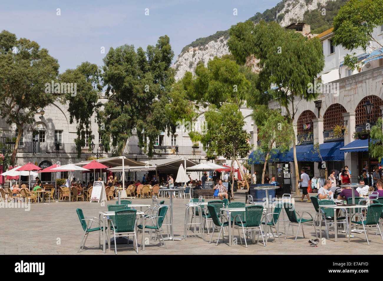 Casemates Square, British overseas territory of Gibraltar - Stock Image