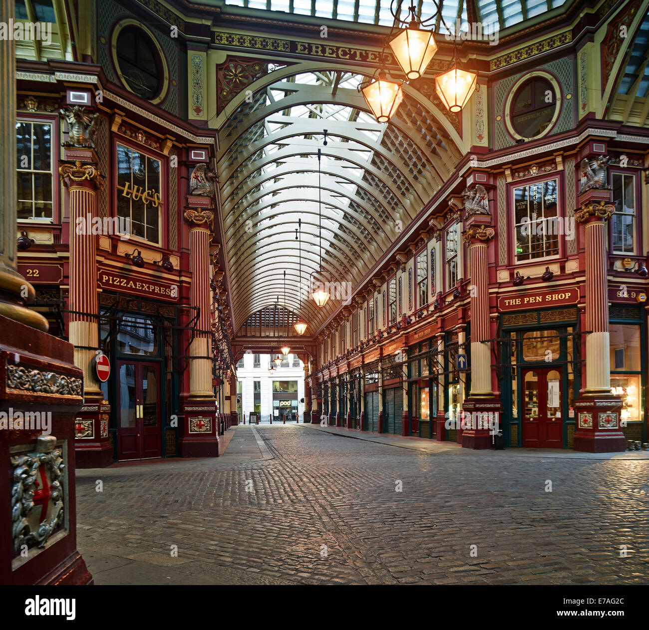 Leadenhall Market, London, England, United Kingdom - Stock Image