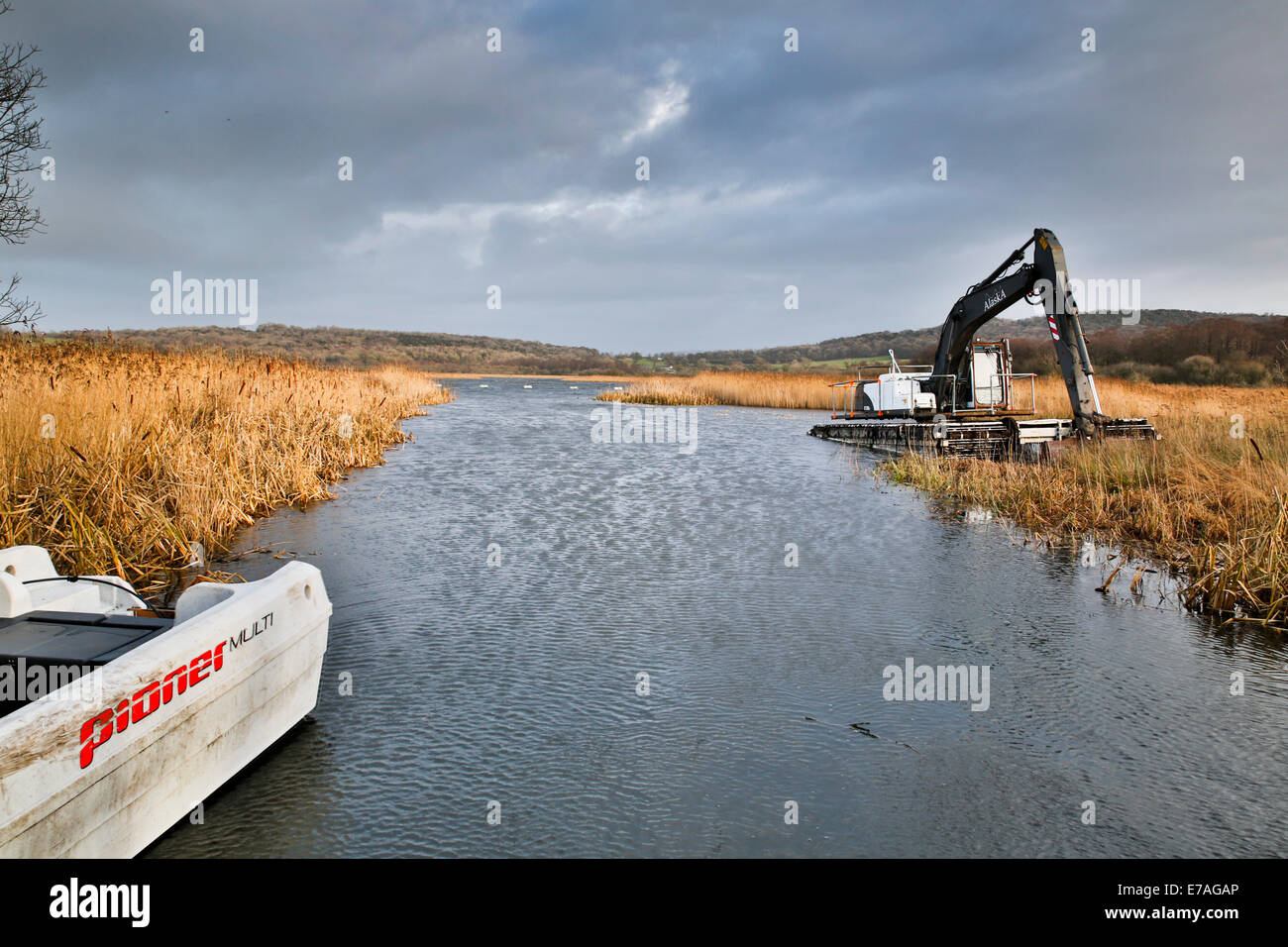 Leighton Moss; Machinery; Lancashire; UK - Stock Image