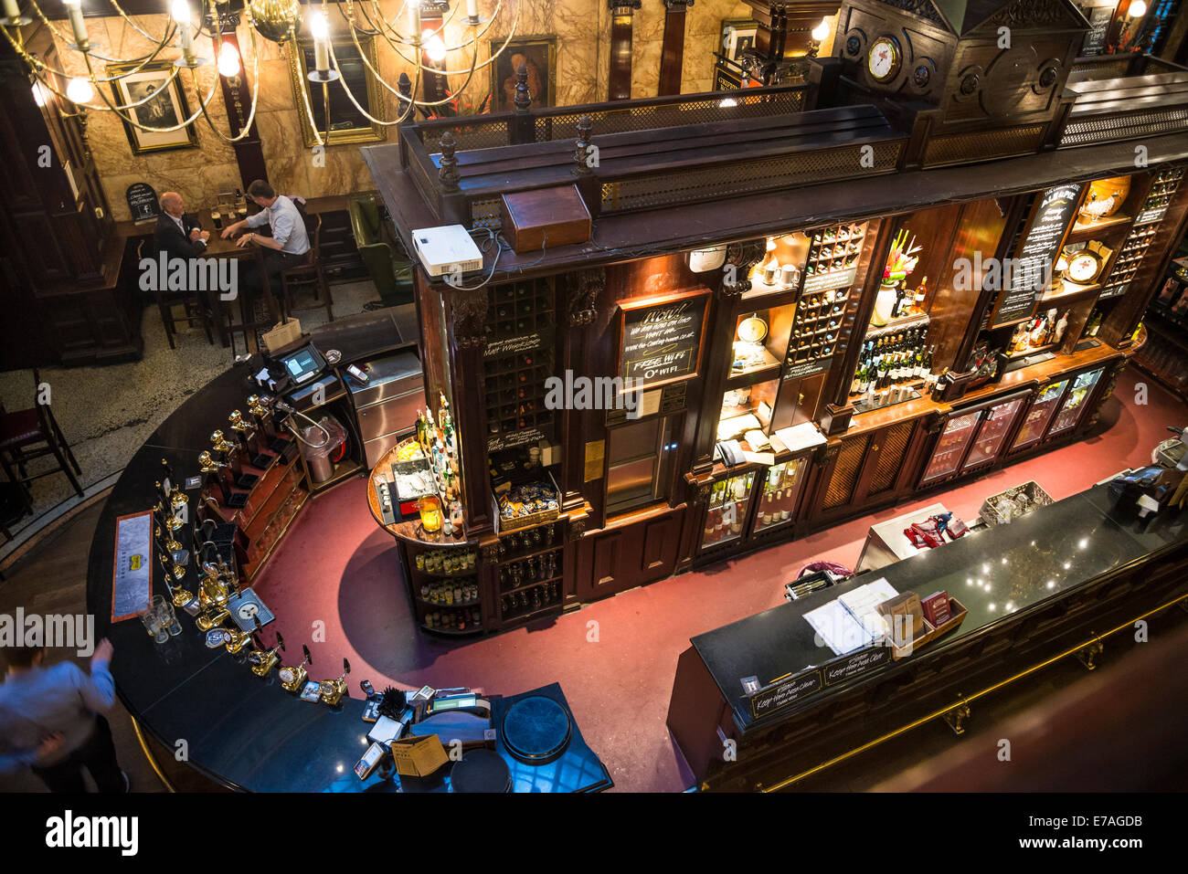 Traditional pub The Counting House in Cornhill, Square Mile, City of London, UK Stock Photo