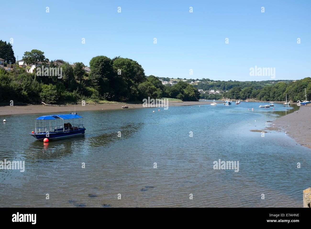 River Teifi and Bay Cardigan Wales Stock Photo