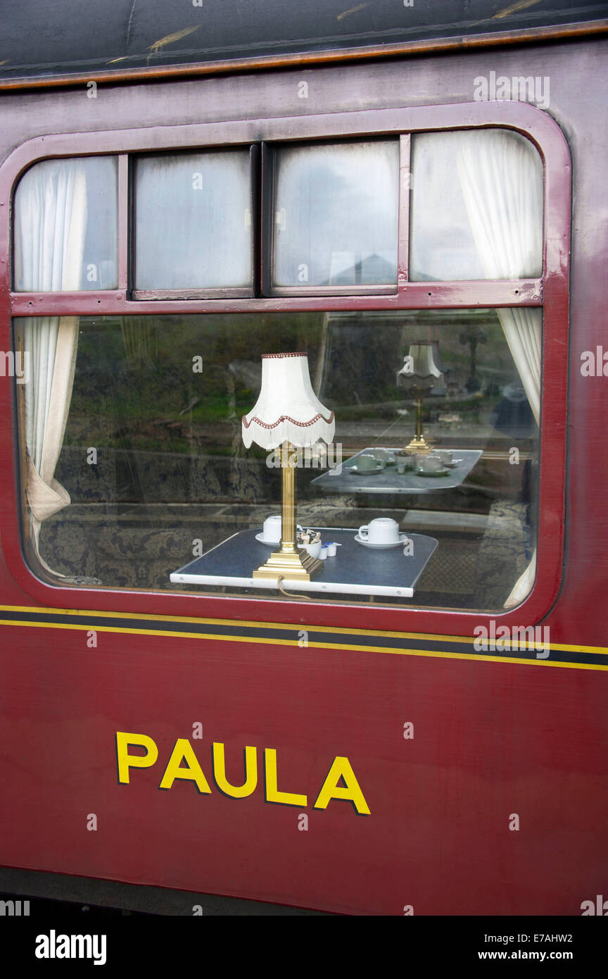 First class waggon, steam railway, Highland, Scotland/The Jacobite, Harry Potter - Stock Image