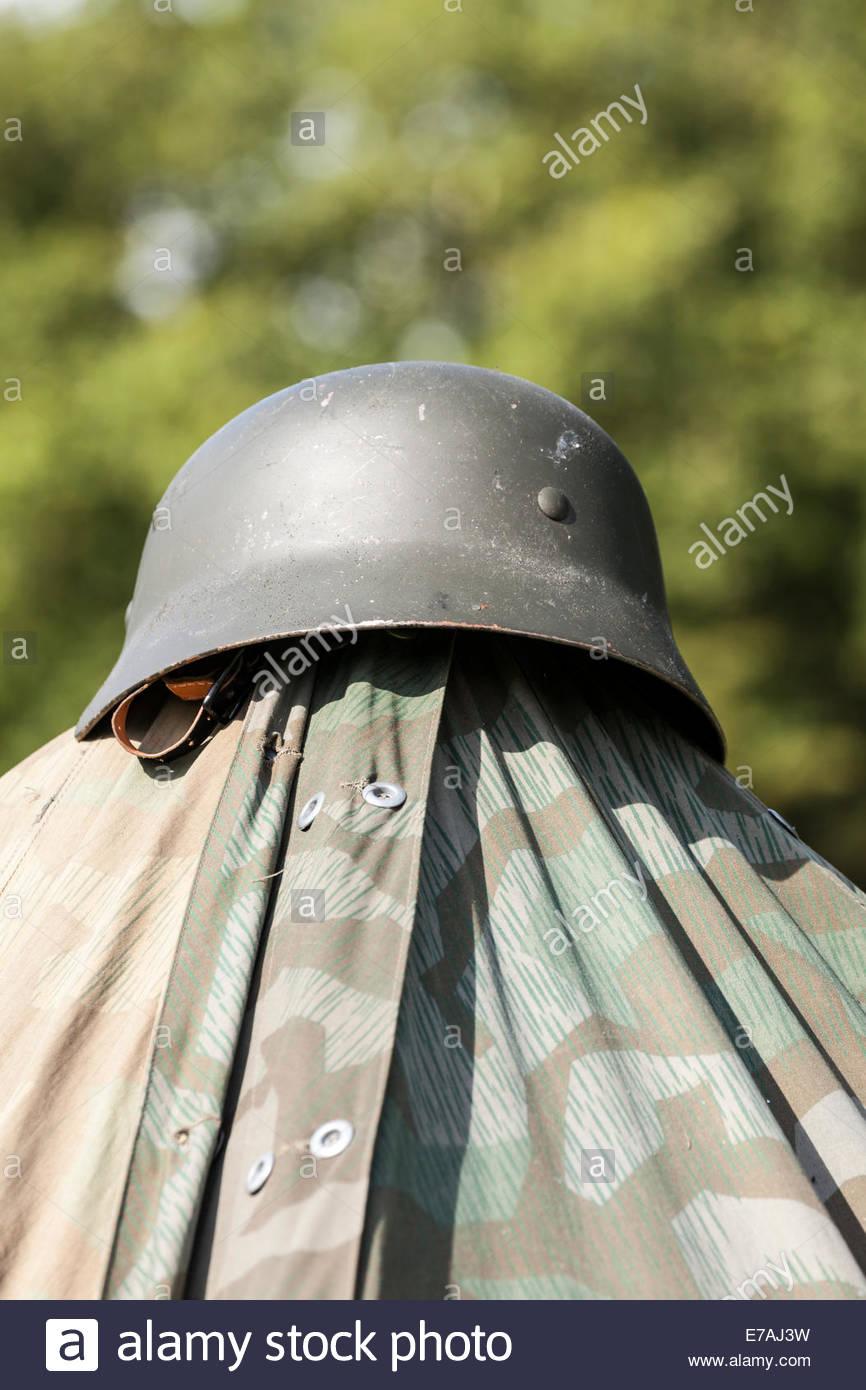 Second World War German Army Helmet - Stock Image