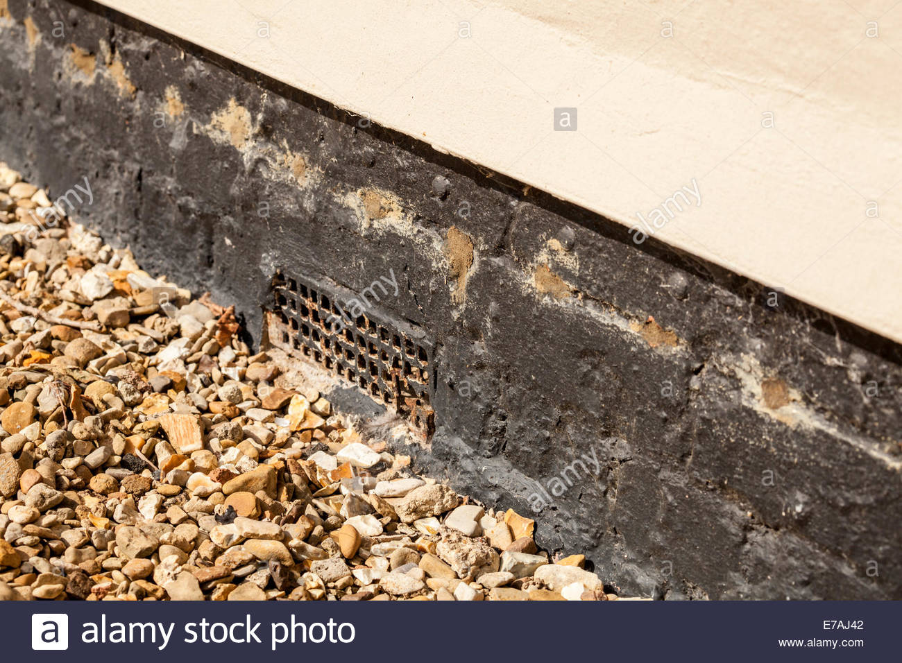 Damp Proof Course Cream Injection Treatment - Stock Image