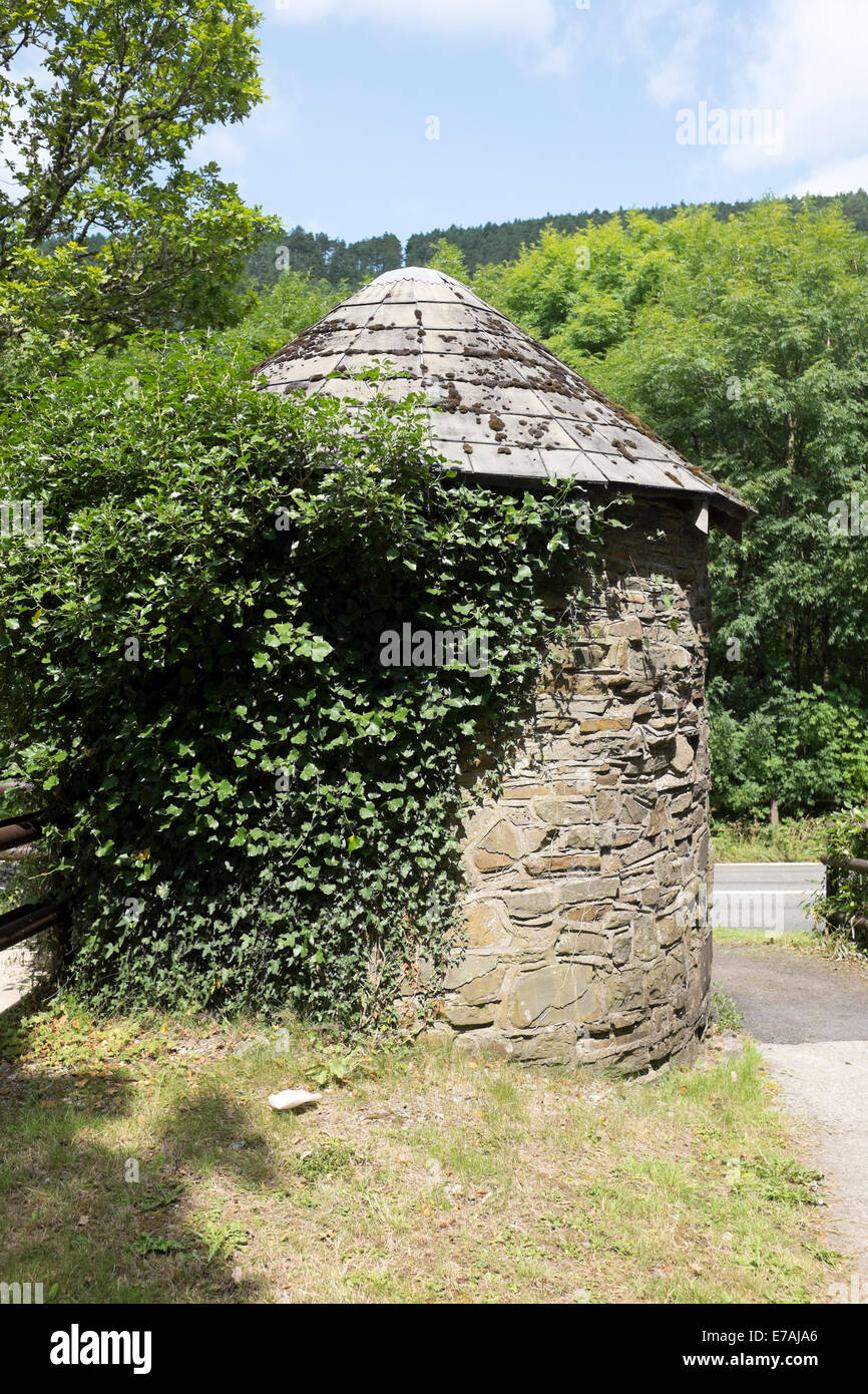 Old Stone Handbuilt Round House Toll Tolls Ancient Stock Photo