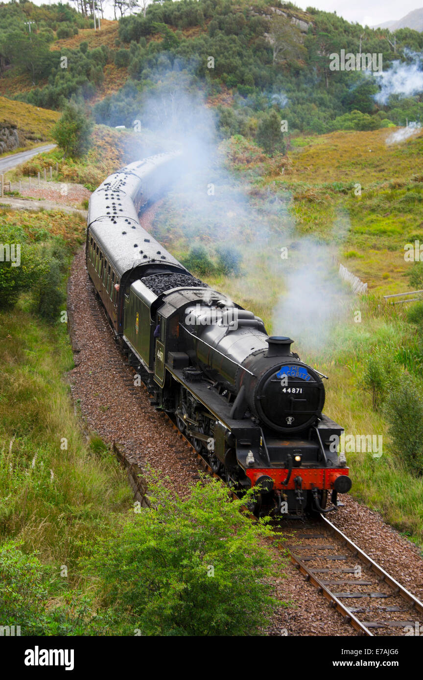 Steam railway, Highland, Scotland/The Jacobite, Harry Potter - Stock Image