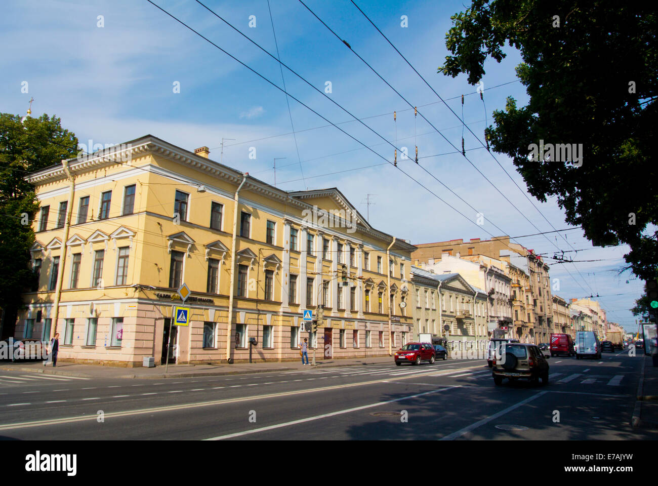 1st Line (Linii) sreet, Vasilyevsky Island, Saint Petersburg, Russia, Europe - Stock Image