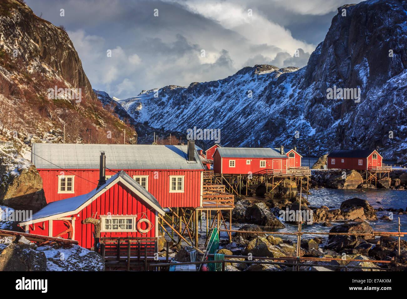 Fishing village in the Lofoten Islands - Stock Image
