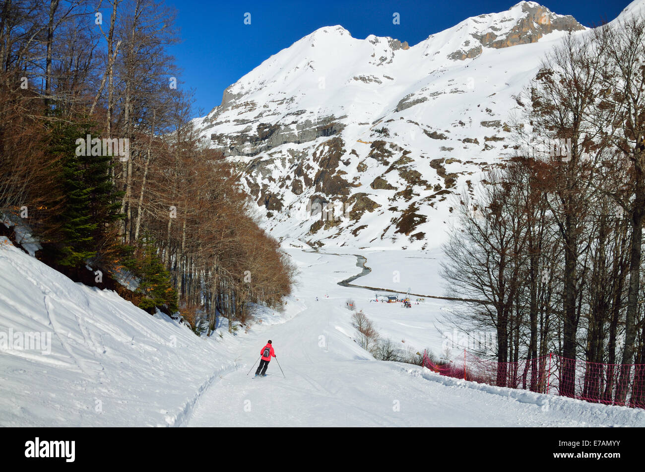 Vacations in the winter mountains - Stock Image