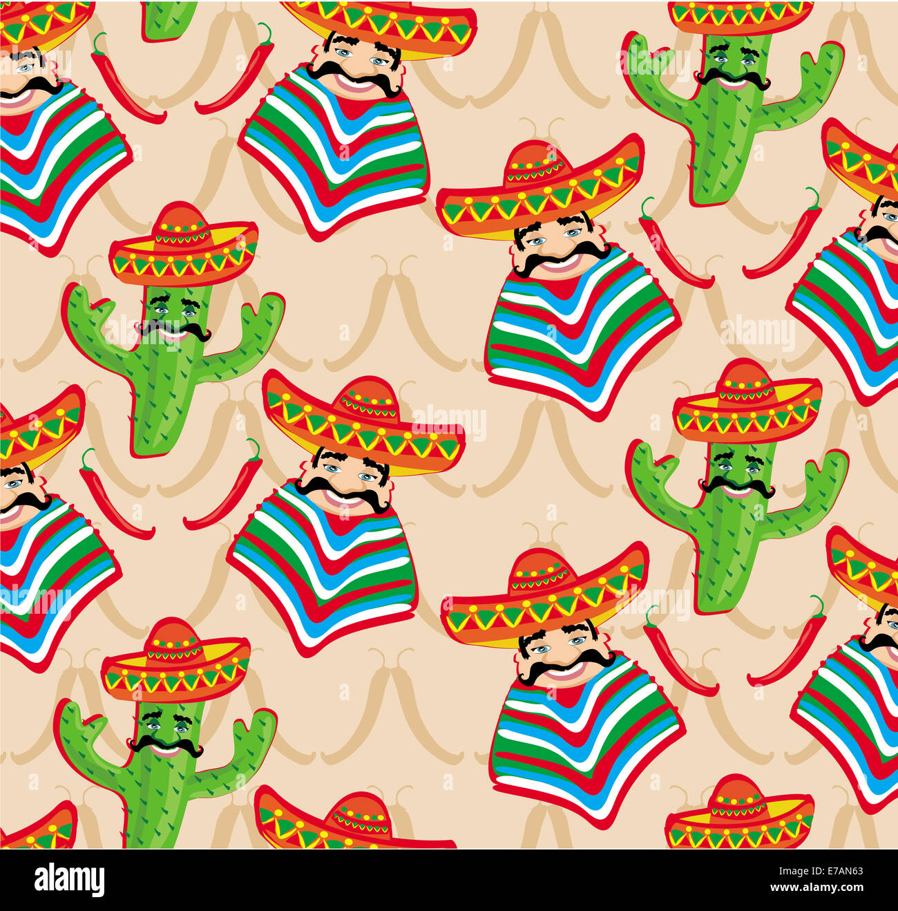 Mexican pattern with cactus 61e85e403fc