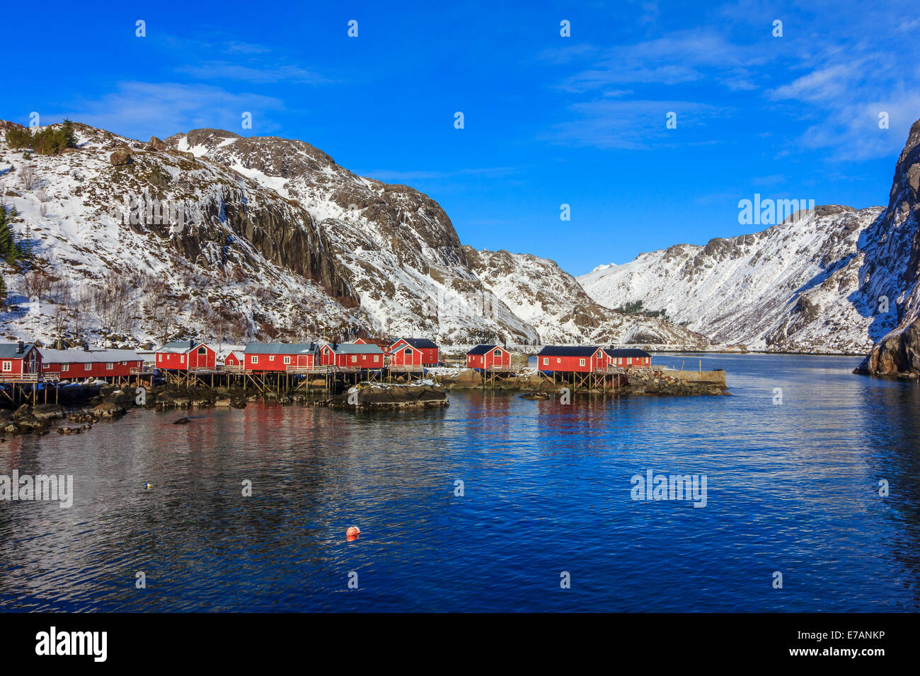 Fishing village in the Lofoten Islands - Stock Image