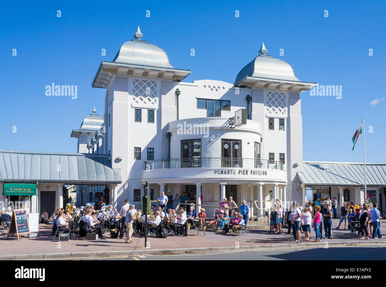 Penarth Pier Pavilion  Penarth Vale of Glamorgan South Wales GB UK EU Europe - Stock Image