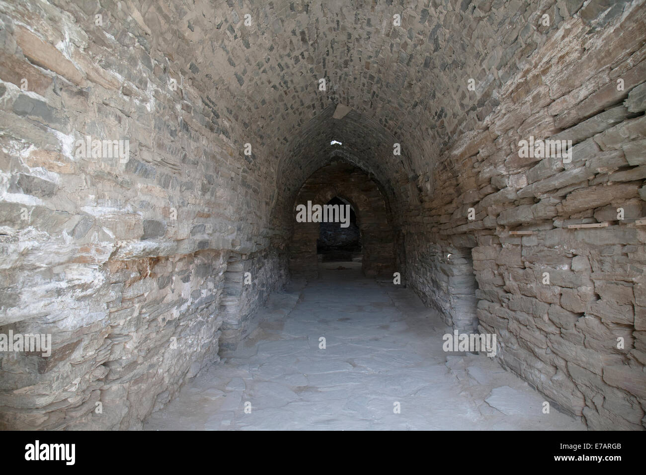 Interior of Tash Rabat, Kyrgyzstan Stock Photo