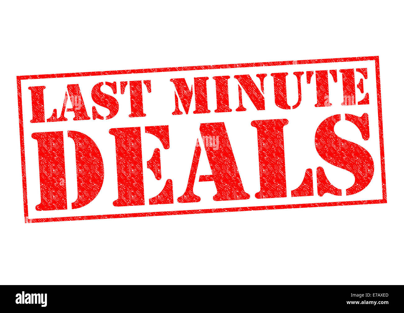 Last Minute Deals Red Rubber Stamp Over A White Background Stock Photo Alamy