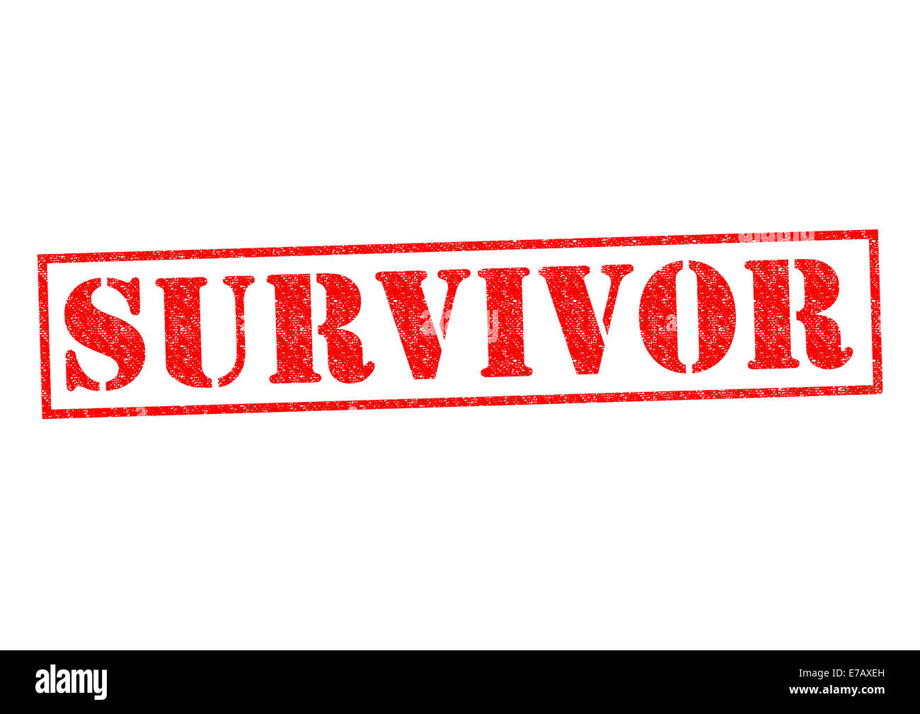 SURVIVOR red Rubber Stamp over a white background. - Stock Image