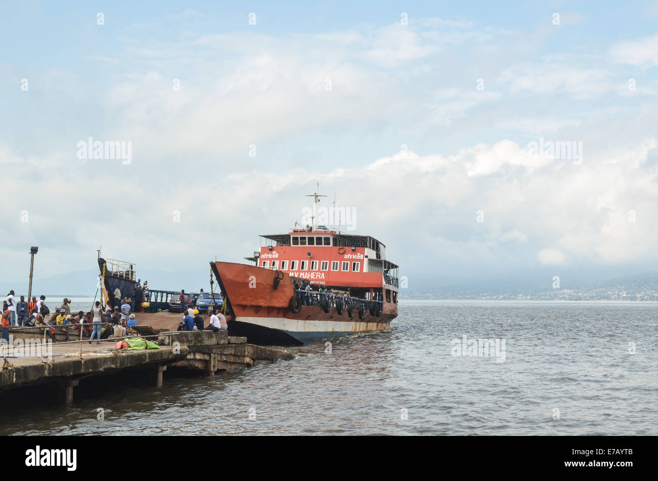 Lungi-Freetown ferry that links the capital city to the airport, Sierra Leone, Africa - Stock Image