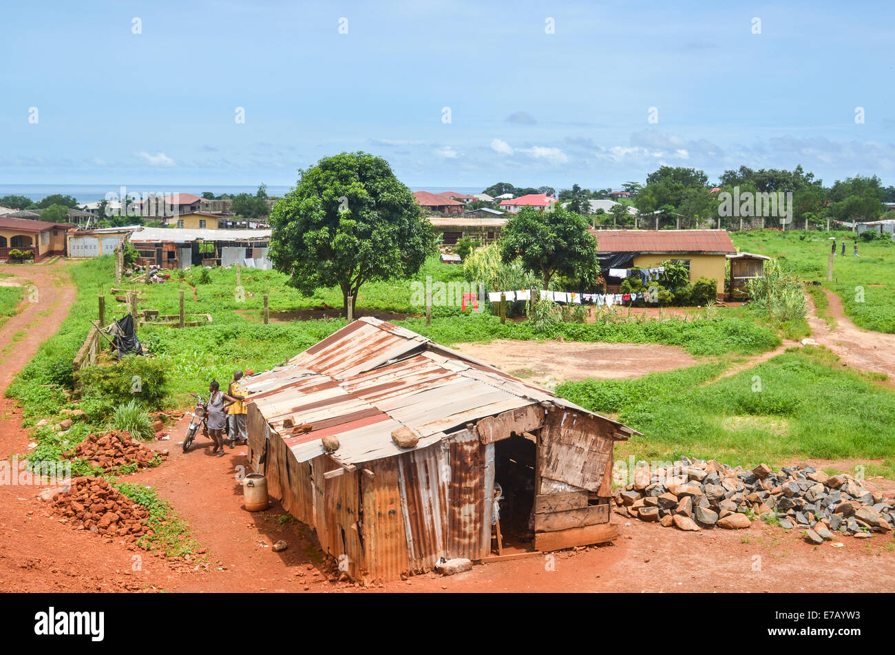 Suburbs of Freetown, Sierra Leone - Stock Image