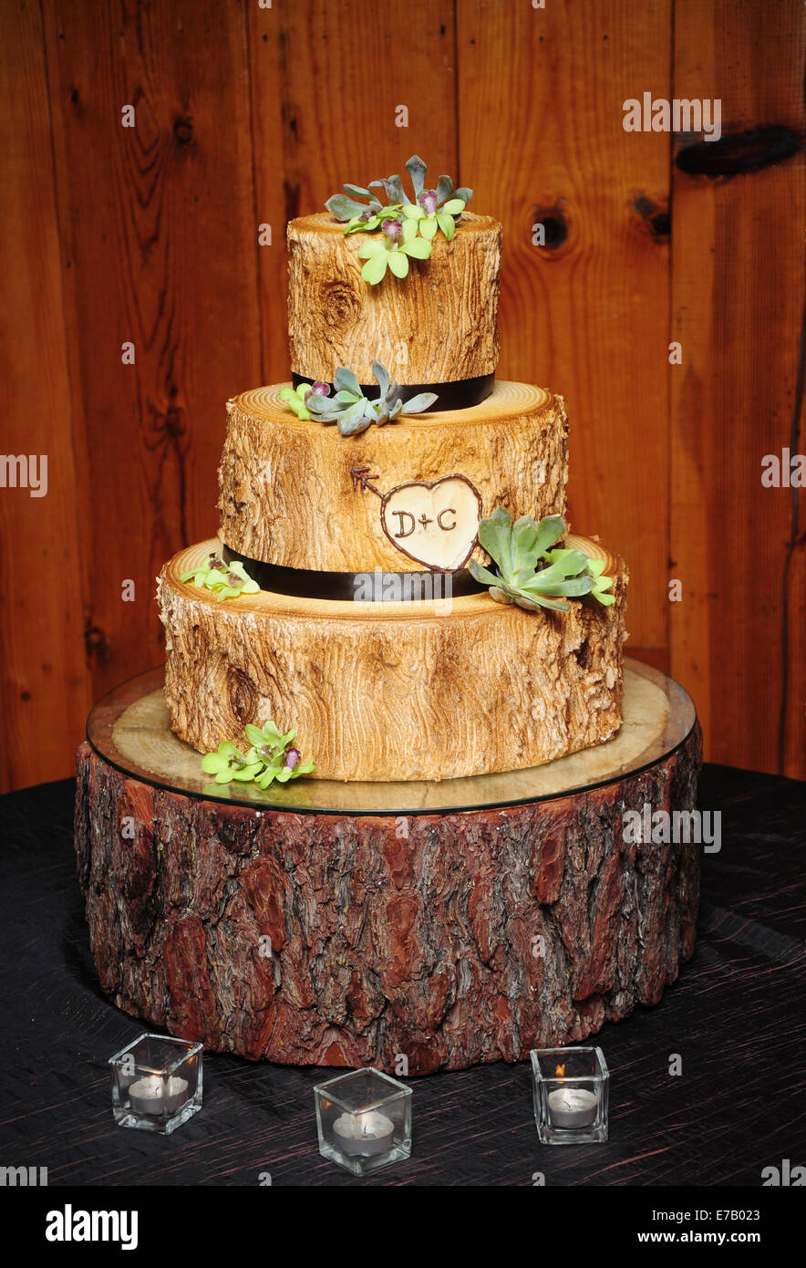 wedding cake that looks like bride a wedding cake designed to look like wood from an tree 26248