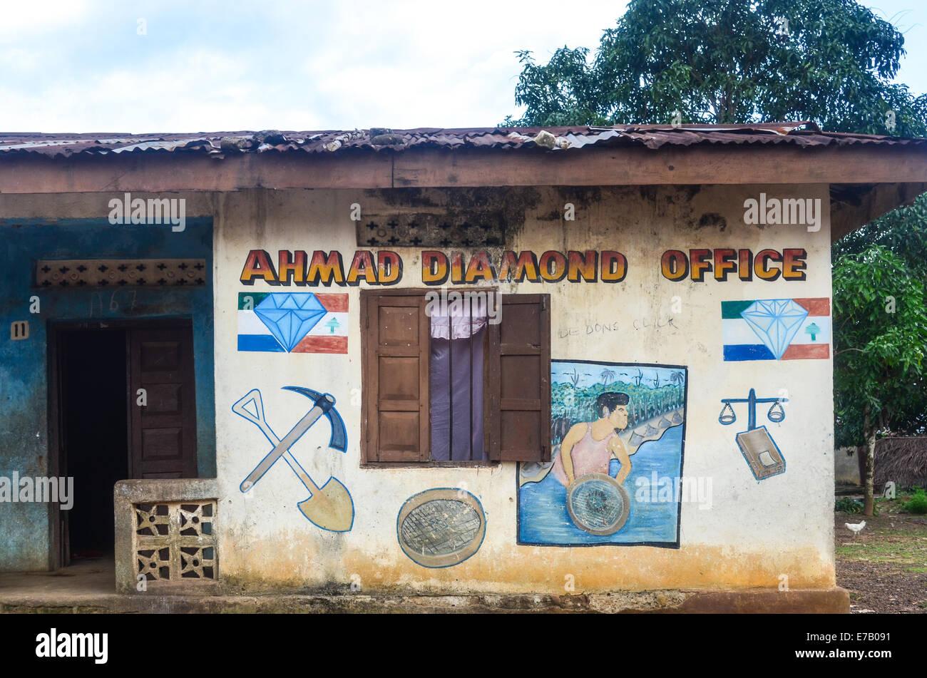 A shop in diamond mining in eastern Sierra Leone, near Bo - Stock Image