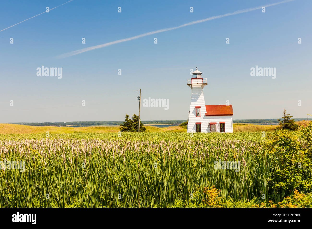 New London Range Rear Lighthouse in Queens County, Prince Edward Island, Canada - Stock Image