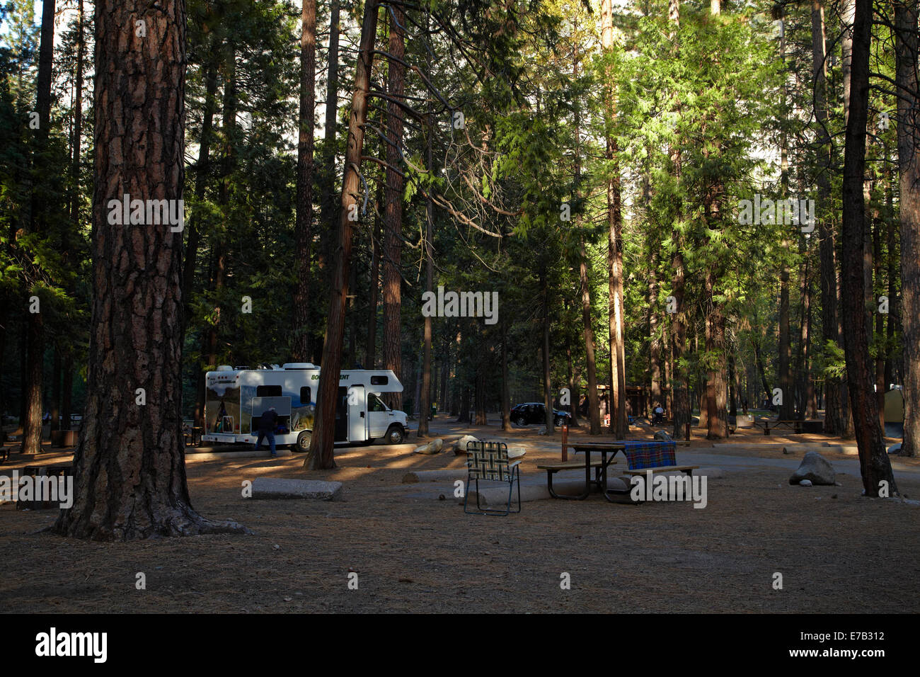 upper pines campground, yosemite valley, yosemite national park
