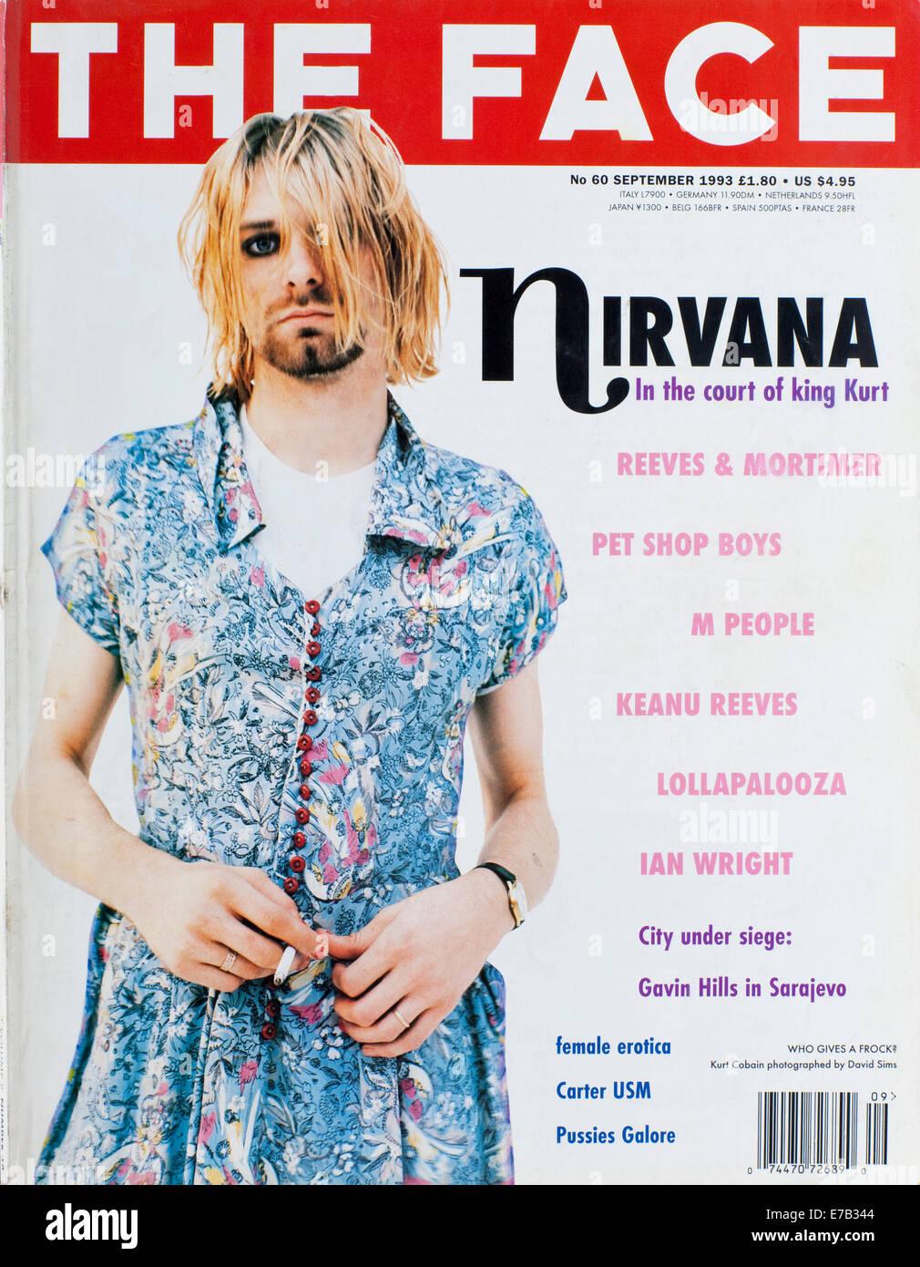 The Face Magazine, September 1993 -Kurt Cobain - Editorial use only Stock Photo