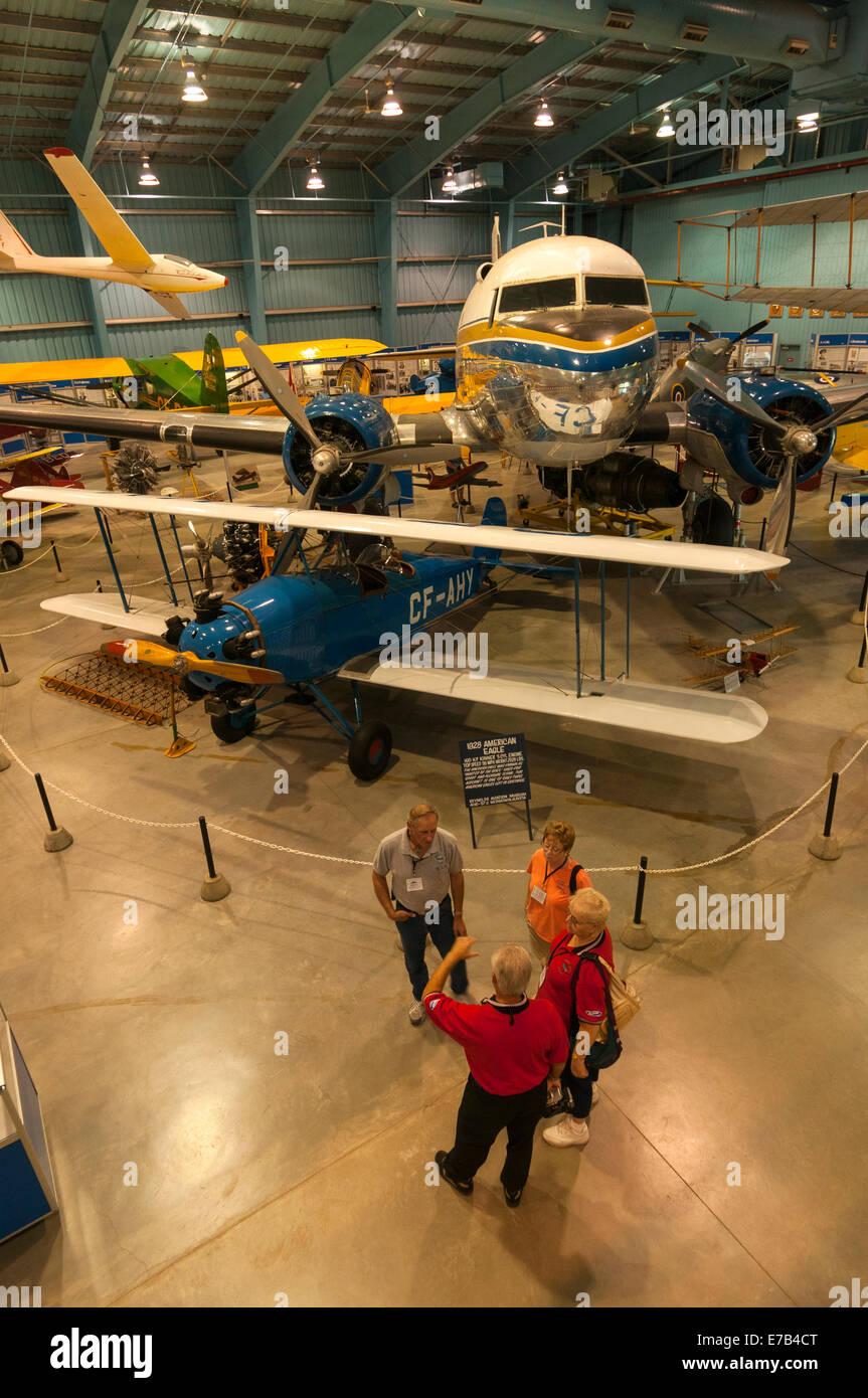 Elk203-5690v Canada, Alberta, Wetaskiwin, Reynolds-Alberta Museum, vintage airplanes, American Eagle - Stock Image